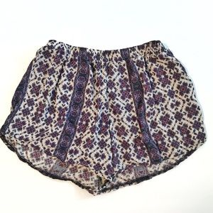 Brandy Melville Purple Floral Soft Shorts Small